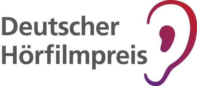 Bild mit Text: Deutscher Hörfilmpreis, daneben ein stilisiertes Ohr.